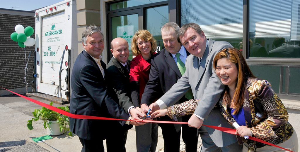 Greensaver ribbon cutting at Six Point Office