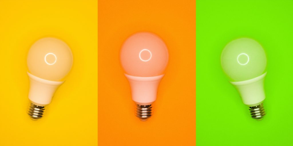 Individuals can improve their energy efficiency by switching to LED lightbulbs