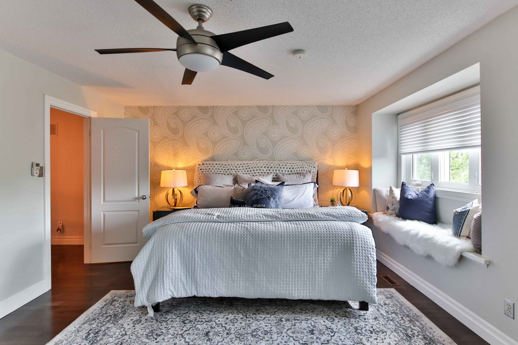 Reverse ceiling fans to save energy in winter