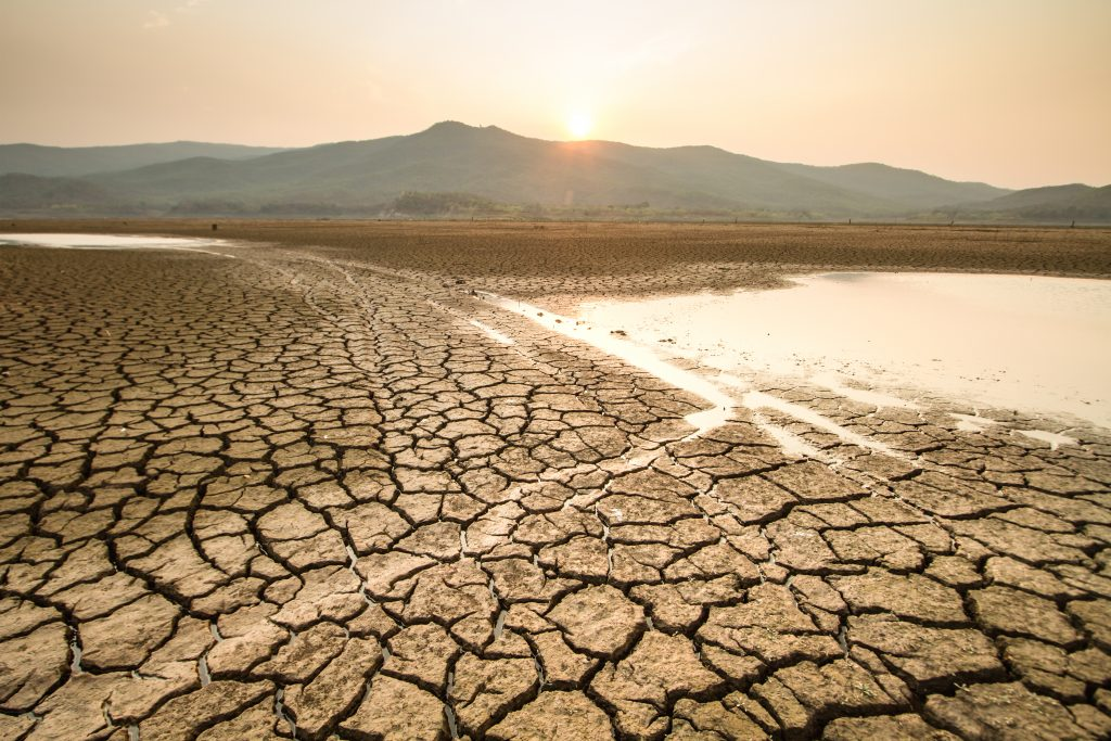 Water scarcity caused by climate change